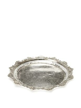 50% OFF Found Objects Moroccan Tea Tray Round, Silver