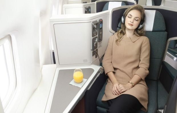 Business class in Cathay Pacific's Airbus A330-300.