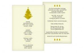 Gerade bei persönlichen Weihnachtskarten möchte man wertiges Papier in Händen halten, die auch als Erinnerung noch jahrelang die Qualität halten. Ihr könnt bei Eurer Weihnachtskartenbestellung zwischen 5 verschiedenen Papierqualitäten wählen. Wir empfehlen für Eure Weihnachtskarten eine etwas schwerere Papiersorte, so daß man die Karte zu Weihnachten auch am Weihnachtsgabentisch mit aufstellen kann.