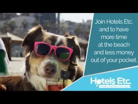 Watch this dog drink a beverage on the beach and wishing for more vacation time. The dog discovered the secret on how to save money on vacations and get even more vacation time. Members of Hotels Etc. save up to 80% off travel. Serving the travel industry since 1996 visit http://www.hotelsetc.com