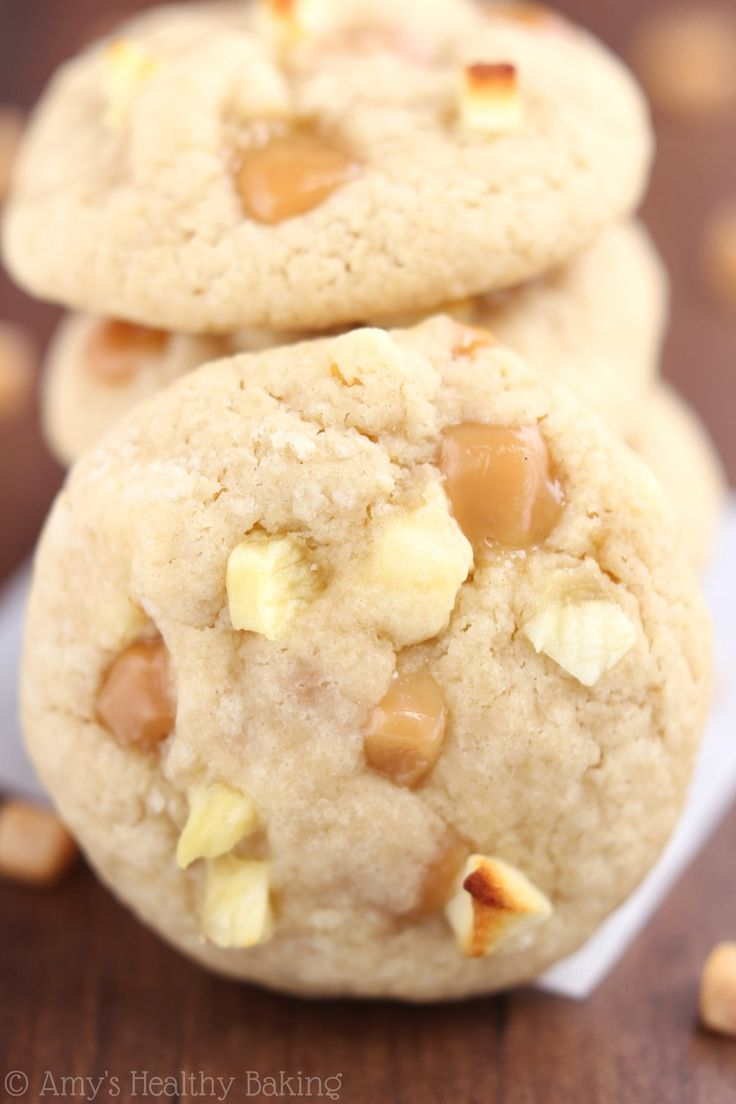 Caramel Apple Cookies So Buttery Secretly Healthy There S Never A Single Crumb