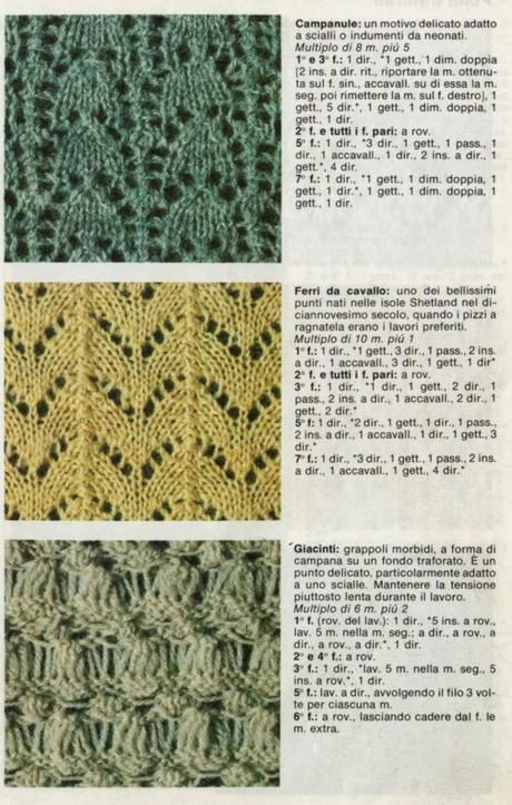 I punti del lavoro a maglia: I punti traforati