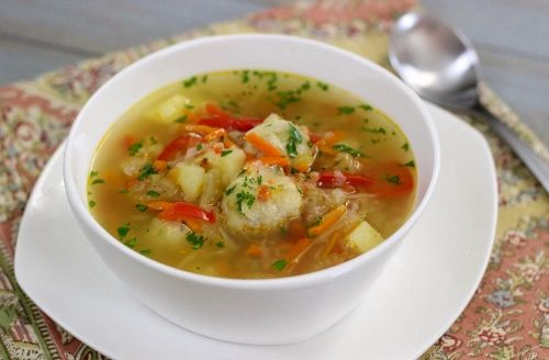 Shchi (Russian Cabbage Soup) With Meatballs from Olga's Flavor Factory