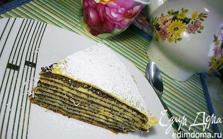 Блинный торт-пирог с маковой начинкой в мультиварке | Кулинарные рецепты от «Едим дома!»