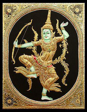 Rama Navami Week- Indonesian Rama Tanjore Painting