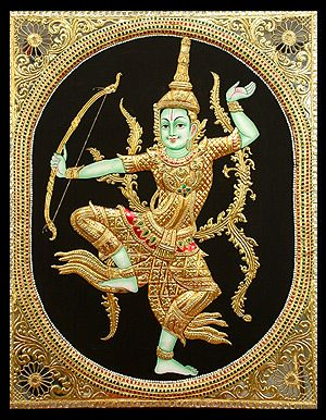 Rama Navami Week- Indonesian Rama Tanjore Painting
