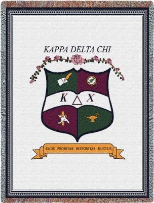 Kappa Delta Chi Crest (Tapestry Throw)