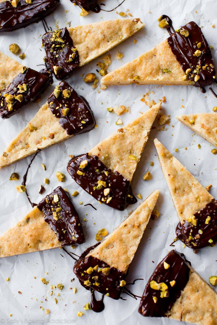 With just a few ingredients, you can turn traditional shortbread into this salted chocolate pistachio shortbread. An easy one bowl dessert recipe!