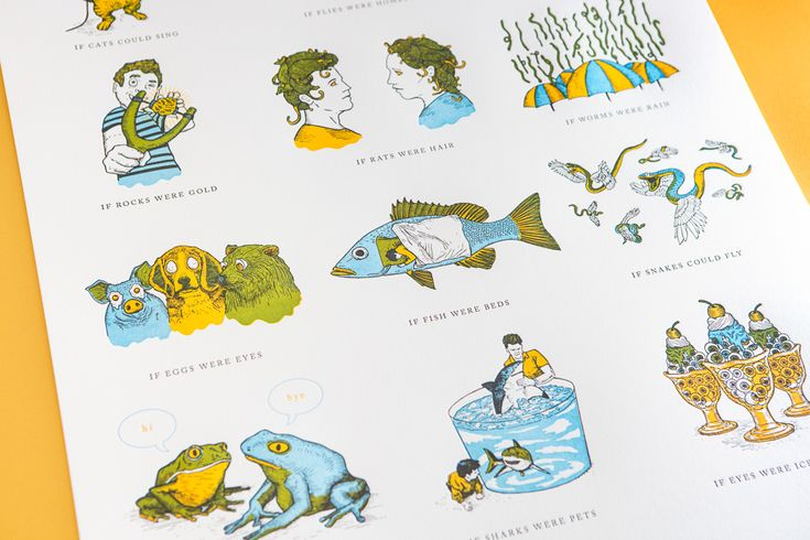We re-imagined Orson's original drawings and story into a fully illustrated picture book, as well as a hand pulled 3 colour letterpress printed poster. Our aim was to keep as much of the story's essence, while giving the illustrations a new life.