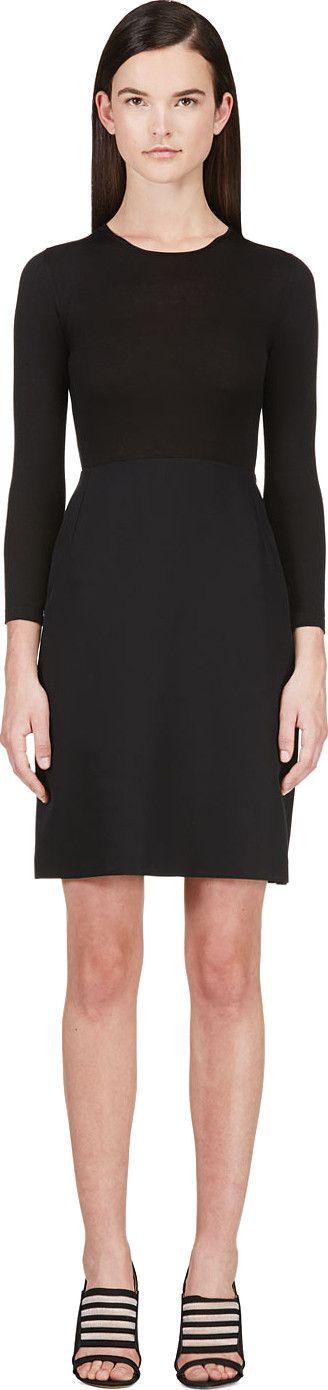 CALVIN KLEIN COLLECTION Black Combo Tay Bis Dress. #calvinkleincollection #cloth #dress