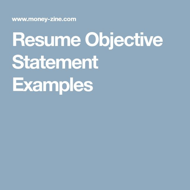 Best 25+ Resume objective statement ideas on Pinterest Good - writing objective in resume