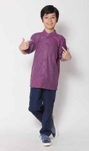 Baju Muslim Anak Koko Majma Kids 19 Ungu - BIG SALE