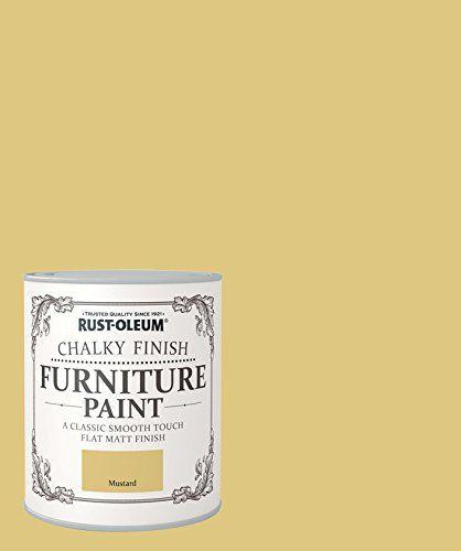 Rust Oleum Chalky Finish Furniture Paint Mustard 750ml Rustoleum