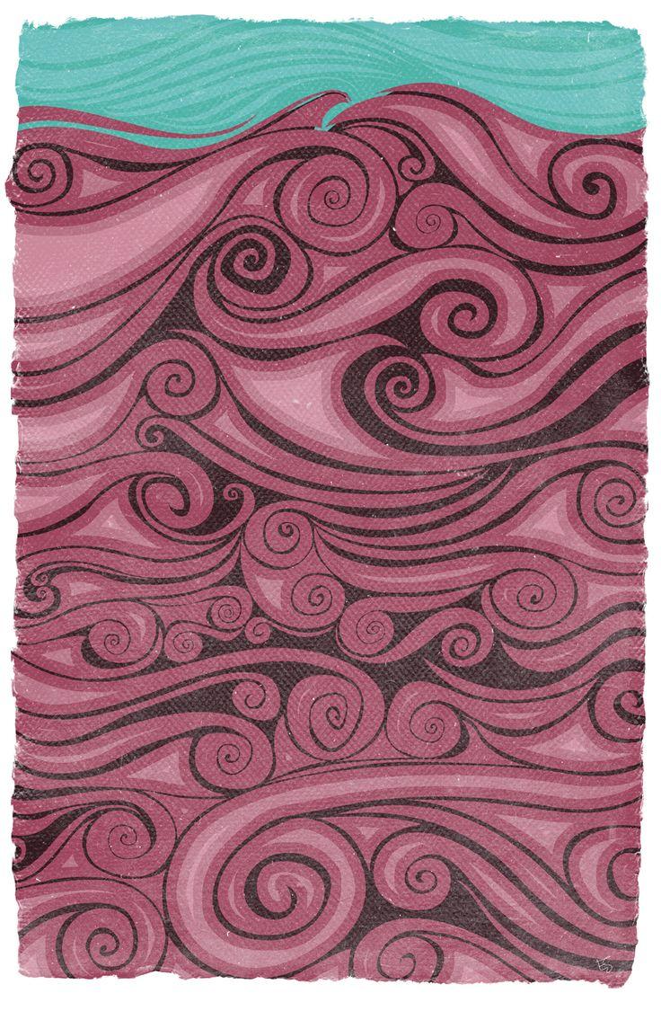 Waves Art by Esther Sanchez