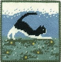 Farm Cat Picture / Pincushion Tapestry Kit (oo) **SALE**