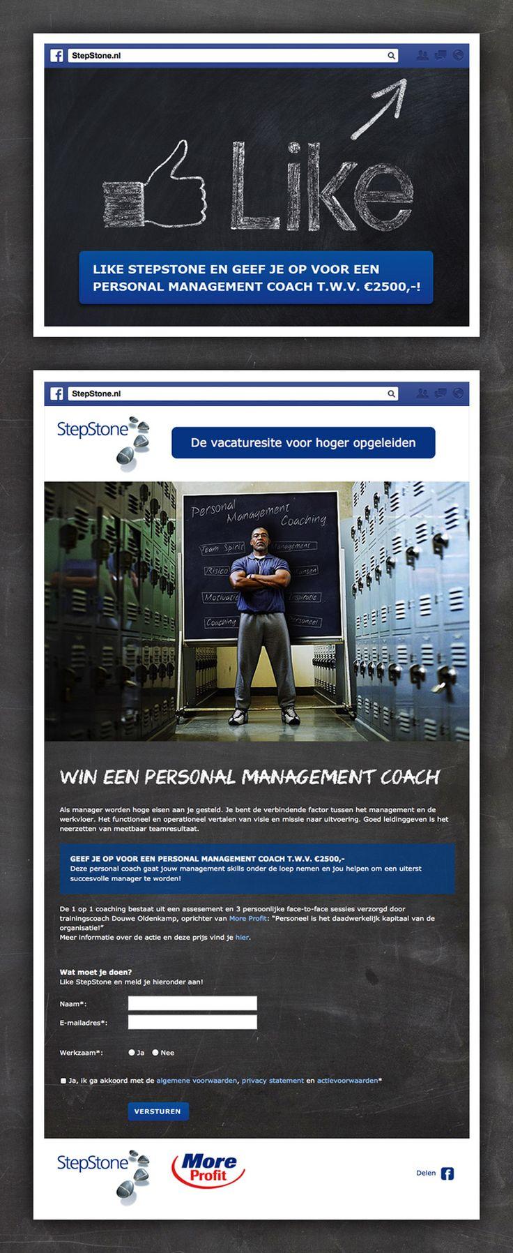 Voor StepStone ontwikkelt vandenbusken Facebook acties voor het genereren van social interactie.