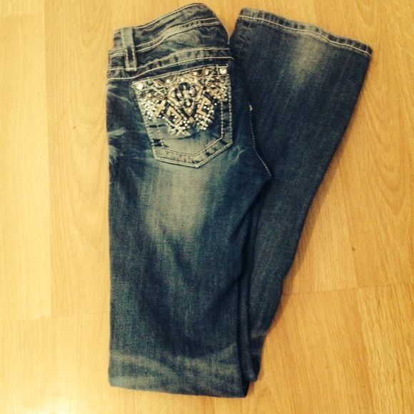 Size 16 Kids Miss me Jeans Size 16 Girls Miss Me Jeans!! Only worn a few times. Inseam of 31in. Miss Me Jeans Boot Cut
