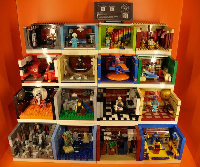 Lego mini-figure habitats