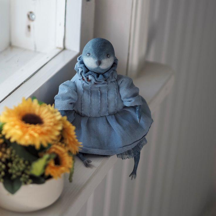 Art doll Blue Bird