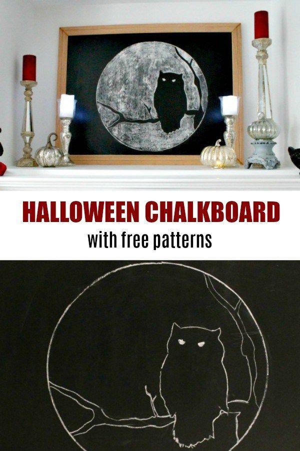 DIY Halloween Chalkboard Art Halloween Decorations Pinterest - scary diy halloween decorations