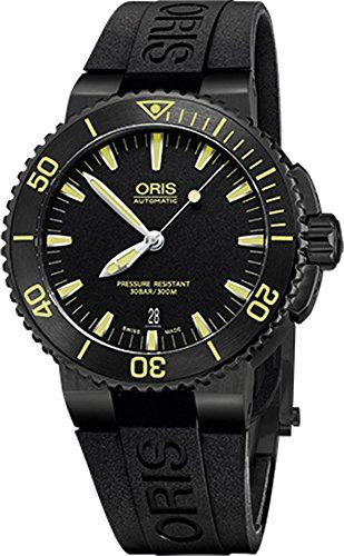 Oris Men's 'Aquis' Swiss Automatic Stainless Steel and Rubber Diving Watch, Color:Black (Model: 73376534722RS) #Watch