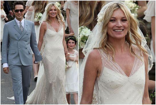 Stilista abito da sposa kate moss