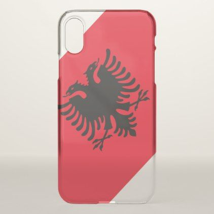 Albania flag iPhone x case  $42.20  by AwesomeFlags  - cyo customize personalize diy idea
