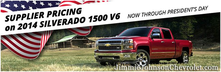 Get supplier pricing on the 2014 Silverado 1500 at Jimmie Johnson Chevrolet in San Diego, CA for Chevy's Presidents Day Sale! Click to view our inventory on JimmieJohnsonChevrolet.com or get more information by calling our internet sales department at (866)677-8995