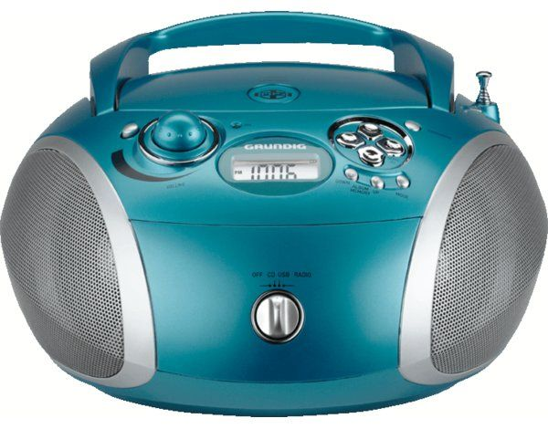 Radioodtwarzacz GRUNDIG RCD 1445 USB Aqua-srebrny