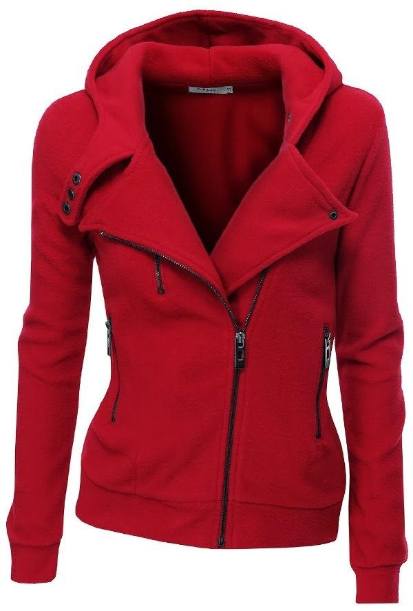 Adorable fleece zip-up hoodie with zipper point fall fashion | FUN AND FASHION HUB