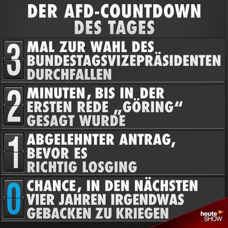 """Gefällt 9,079 Mal, 68 Kommentare - ZDF heute-show (@heuteshow) auf Instagram: """"Erfolgreicher erster Arbeitstag! #Bundestag #Vizepräsident #AfD #Antrag #Countdown #heuteshow #ZDF"""""""