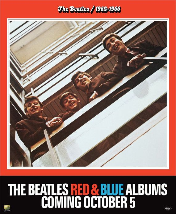 The Beatles 1962-1966 and 1967-1970 Albums Promo Poster by kiss76