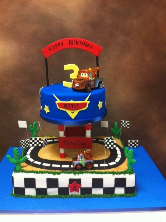 disneys cars birthday cake