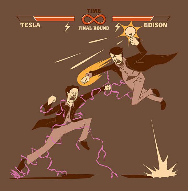 Design for Tesla v. Edison