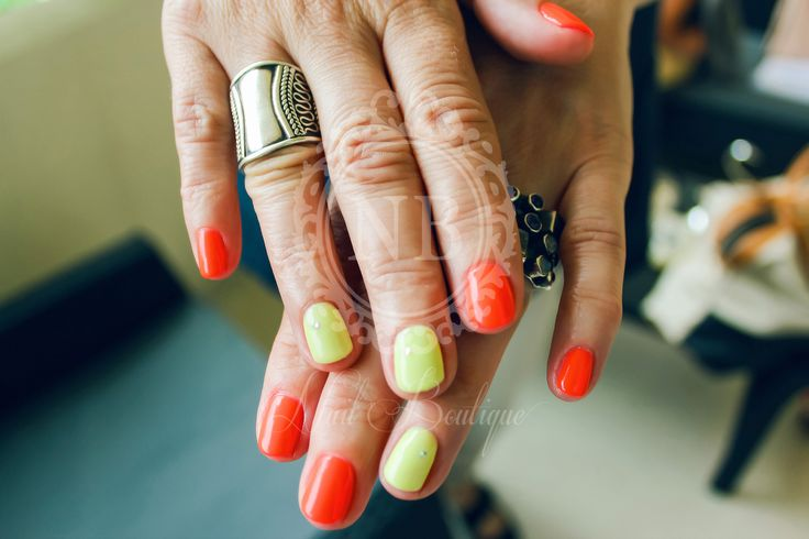 Red&yellow. Love these nails