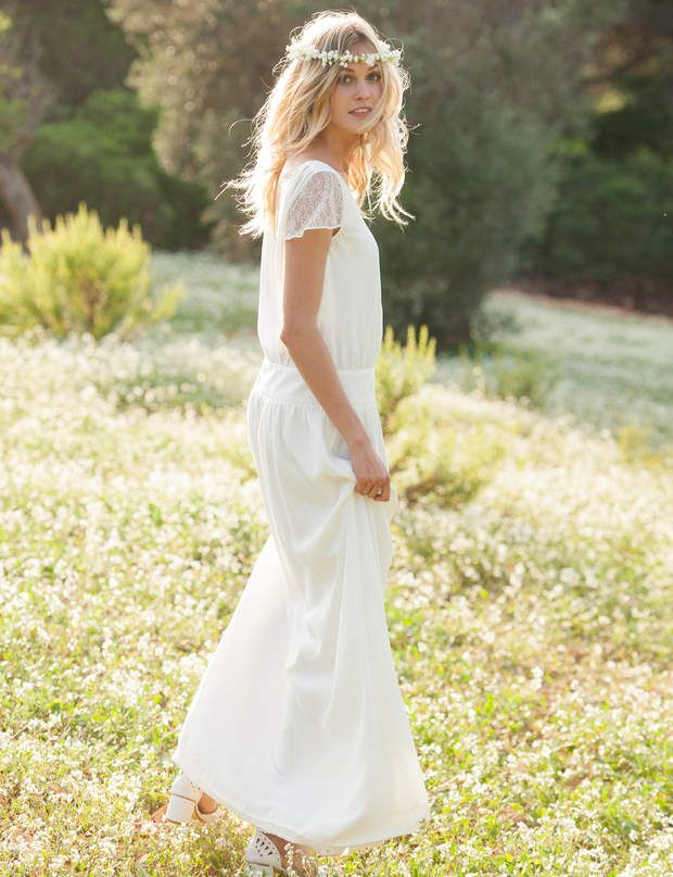 robe blanche raffin e robe blanche 25 tenues pour un mariage prix doux mariage robes. Black Bedroom Furniture Sets. Home Design Ideas