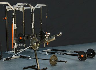 Purmotion Half Rack equipped with accessories.