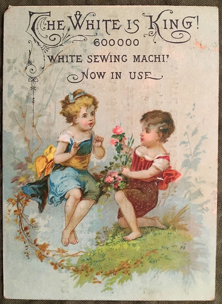 AH472 Advertising Victorian Trade Card White Sewing Machine Co Springfield IL