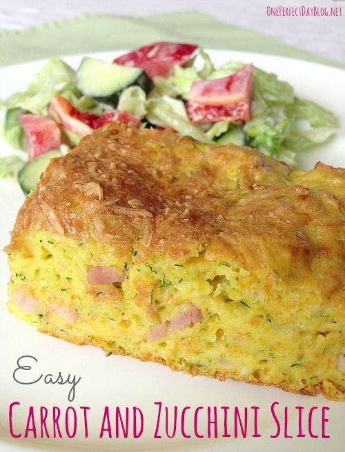 Healthy and delicious carrot and zucchini slice. Quick and simple to make, delicious warm or cold and it freezes well. Perfect for Summer picnics.
