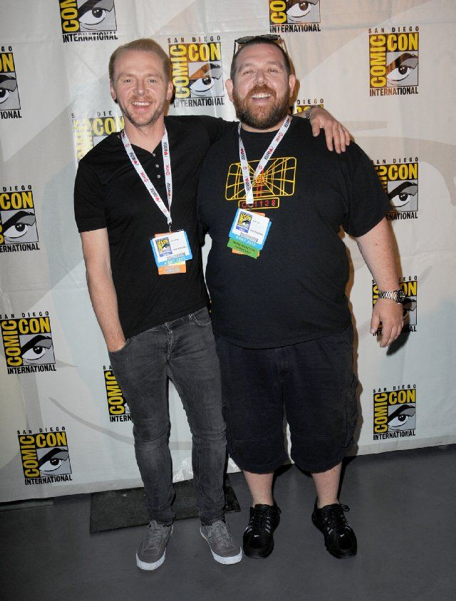 Nick Frost and Simon Pegg at event of The Worlds End