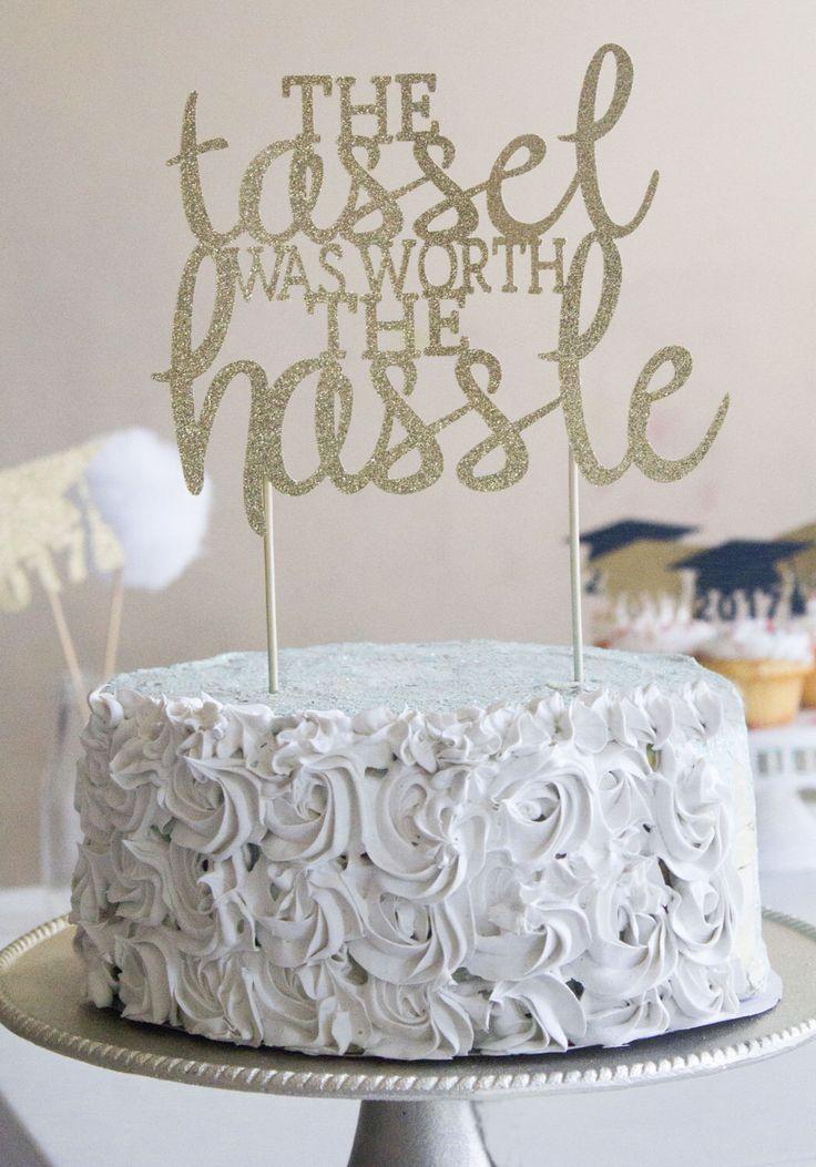 Cake topper, gold cake topper, glitter cake topper, cake decoration, graduation party, graduation decor, graduation cake, graduation by pompomsandpinwheels on Etsy https://www.etsy.com/listing/501374158/cake-topper-gold-cake-topper-glitter