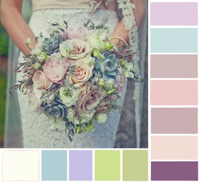 My wedding color scheme