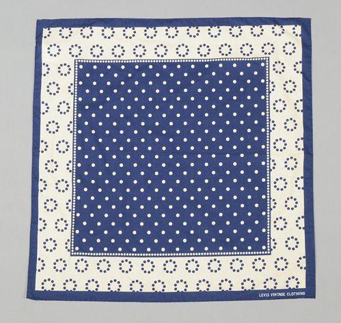 LEVI'S VINTAGE CLOTHING: Blue & White Polka Dot Bandana