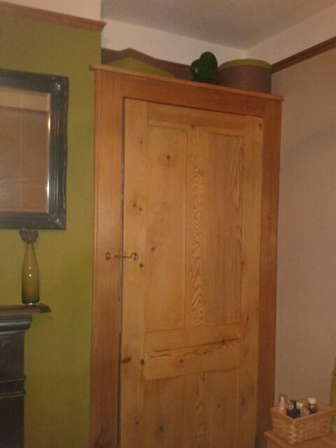 original alcove cupboard restored.....by hand