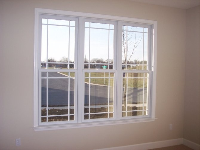 """Double Hung Prairie Windows With """"extra"""" Grid Lines... Don"""