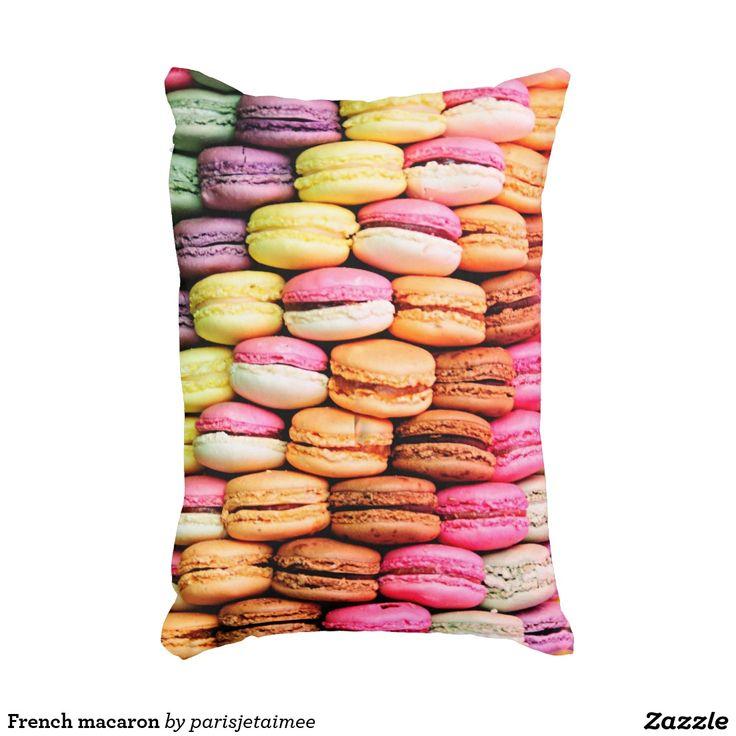 French macaron decorative pillow #macaron #frenchmacaron