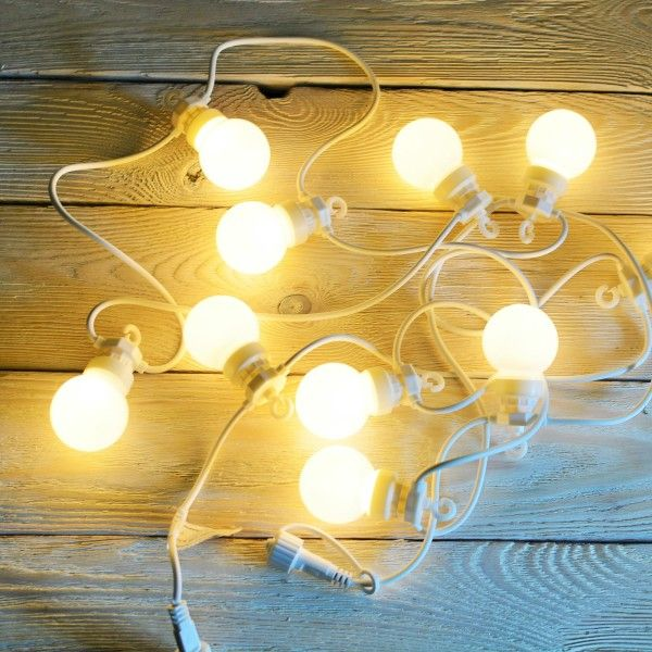 Girlanda Świetlna LED Ogrodowa / Lampki na Kablu | ReBelle