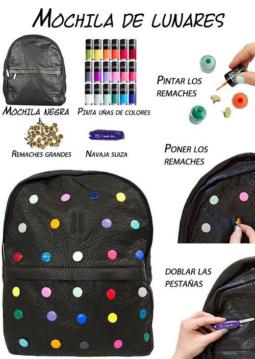 Decorar la mochila blogzoco mochila customizada for Como colocar una mochila de inodoro