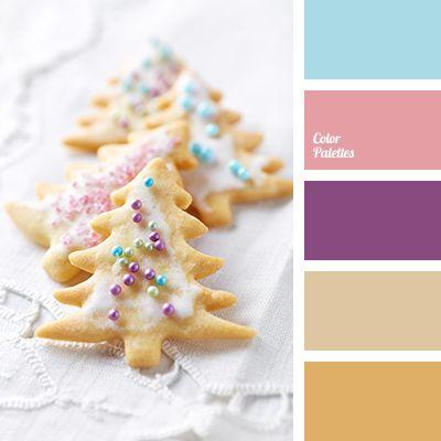 beige, Blue Color Palettes, bright purple, cookie color, light beige, new year color scheme, New Year palette, pale blue, pale pink, pink color, purple, warm beige.