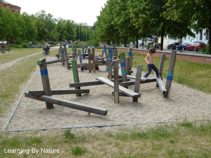 I think the abstract look of this structure would attract children more than a traditional balance beam. It affords multiple paths and the different angles of the beams would challenge children even after they have mastered a standard balance beam.